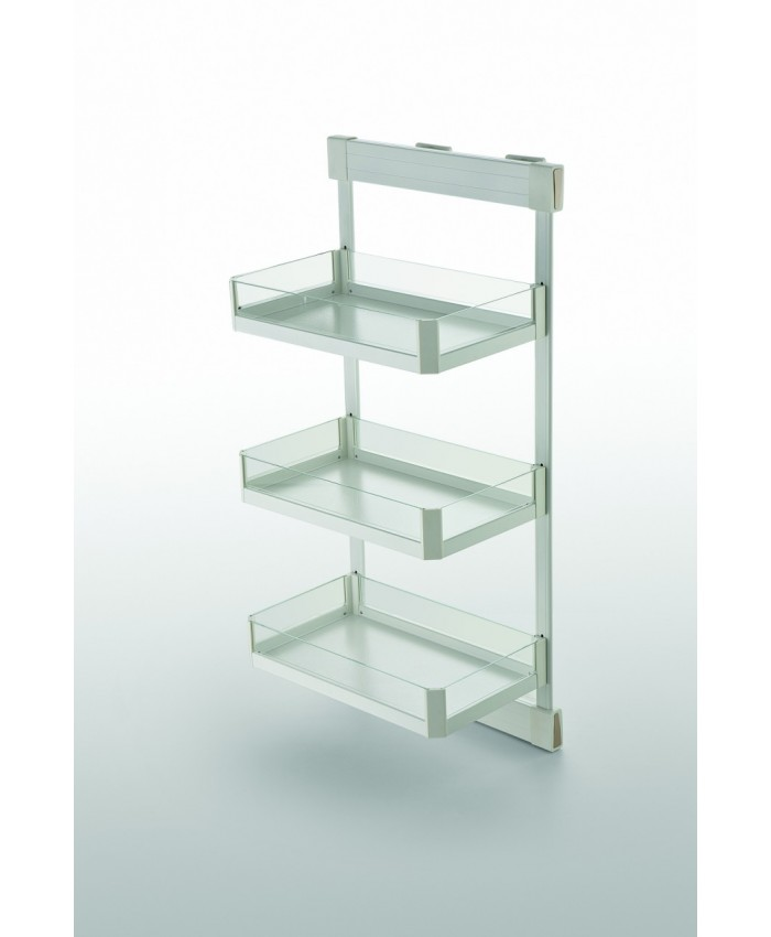 Three Tier Lateral Soft Closing Glass Side Basket