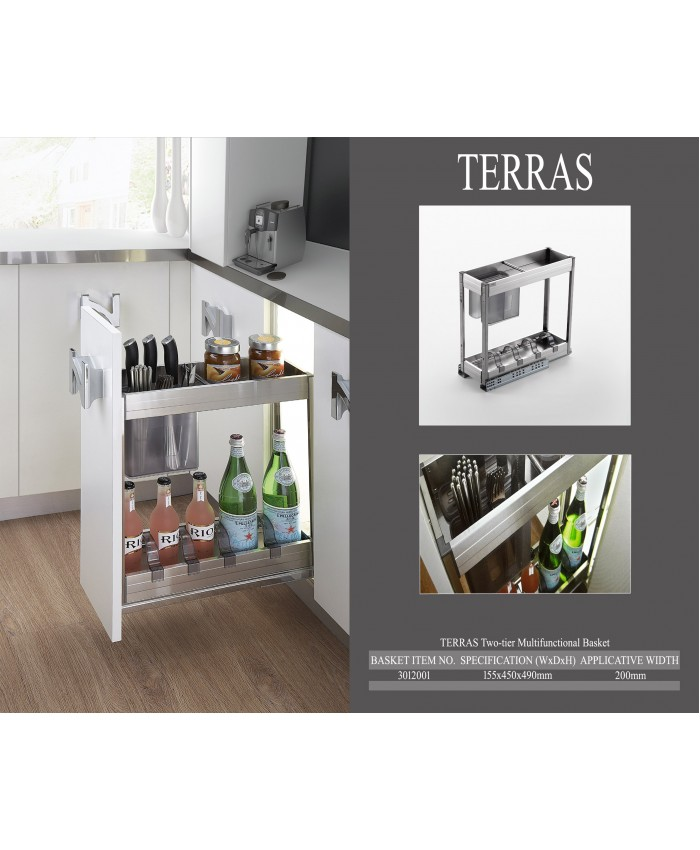 Terras Two-tier Multifunctional Basket